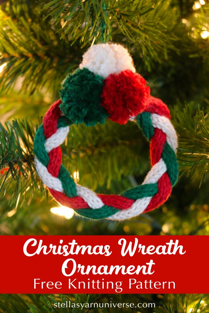 Christmas Wreath Ornament French Knitter Project Stella S Yarn Universe