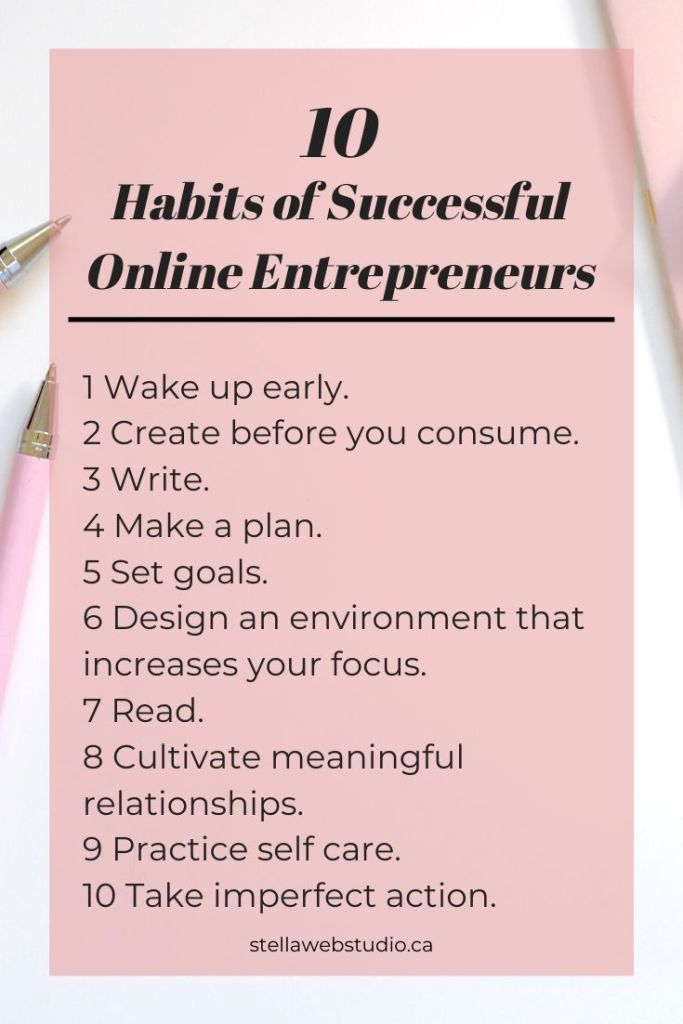 10 Effective habits of successful online entrepreneurs you need to know.
