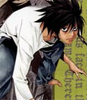 L of Death Note, squatting as usual