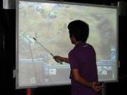 CEL Manila 2008 giant touchscreen