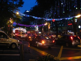 Orchard Road: street lights