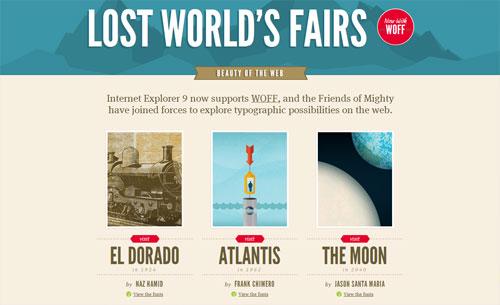 Lost World's Fairs website