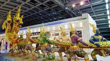 Suvarnabhumi Airport Churning of the Milk Ocean statue