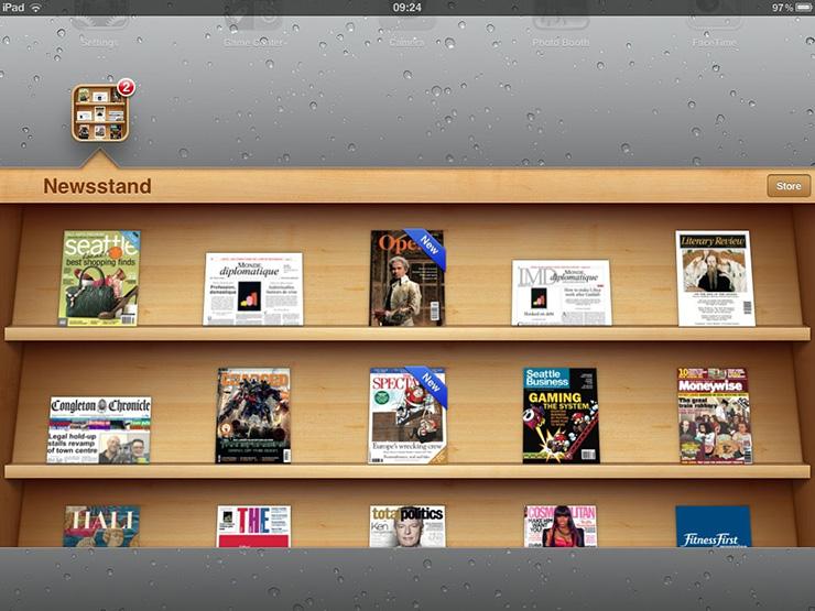Newsstand Apple iOS app