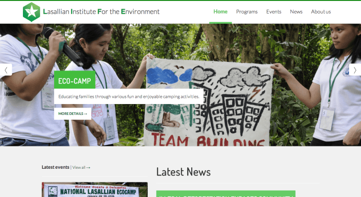 Lasallian Institute For the Environment website by Atoms