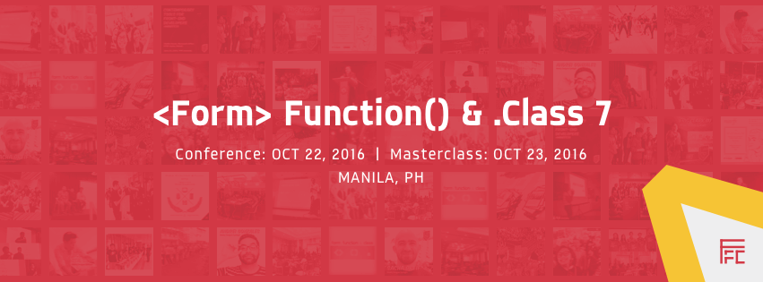 Form Function & Class 7 web design conference 2016