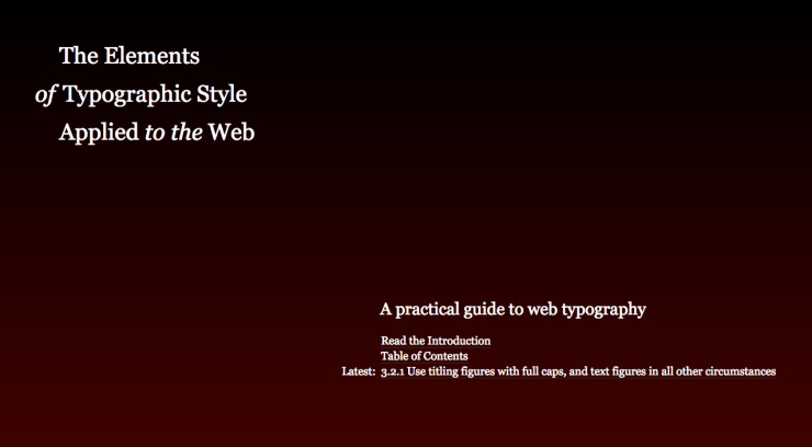 The Elements of Typographic Style Applied to the Web by Richard Rutter