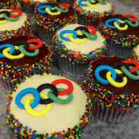 Bake for the Gold: Olympic Rings Cupcakes