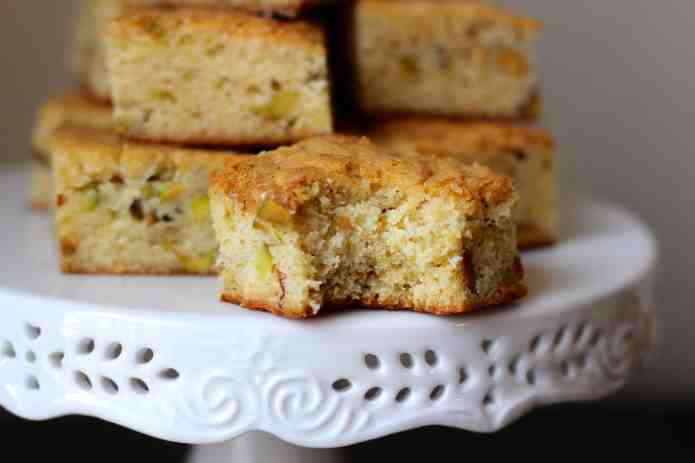 Lemon Pistachio Blondies - 28