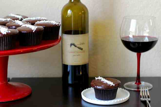 Red Wine Chocolate Cupcakes - 3