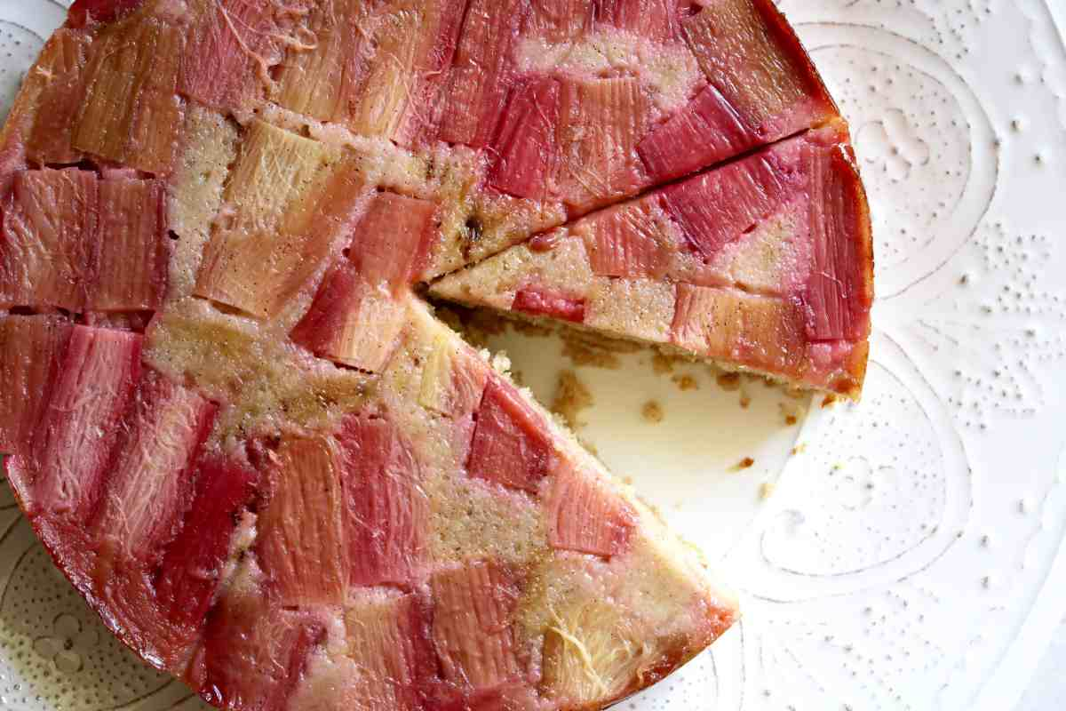 Right Side Up: Rye & Rhubarb Upside-Down Cake
