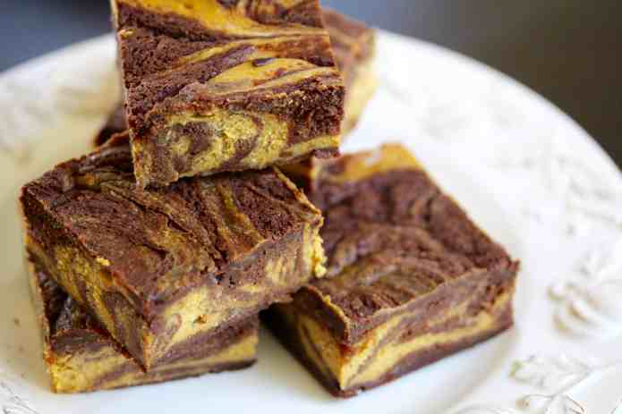 Pumpkin Swirl Cheesecake Brownies - 32