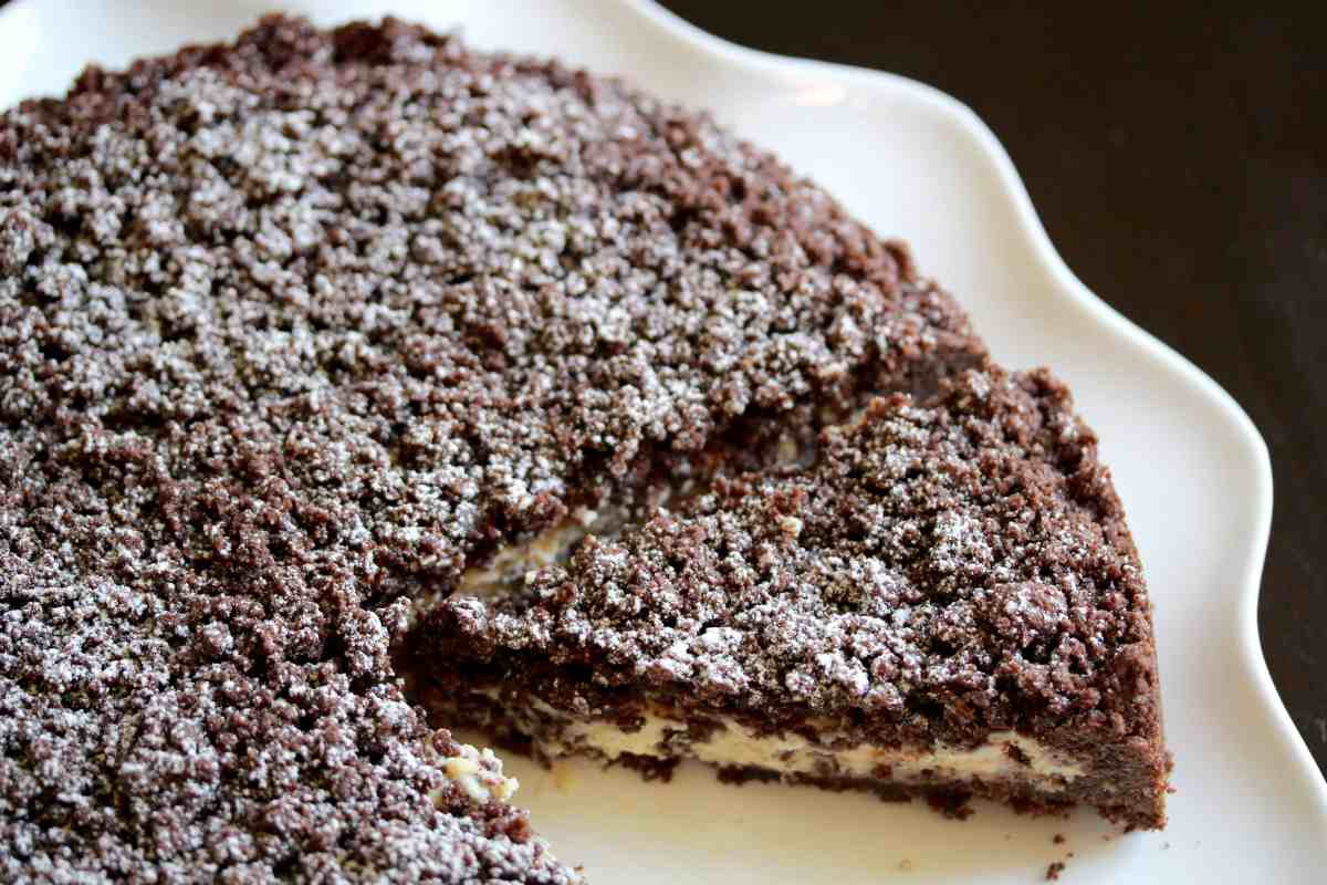 Lombardia: Torta Sbriciolata with Cocoa, Ricotta & Chocolate Chips