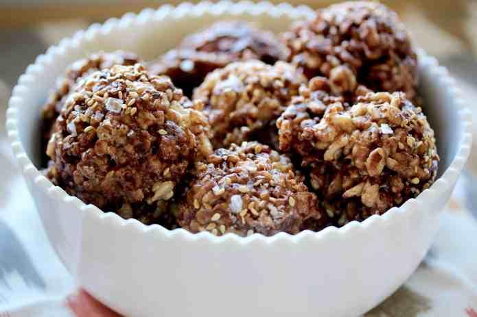 Salted Chocolate Sesame Rice Crispy Treats - 26