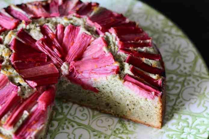 Green Tea Rhubarb Cake - 15