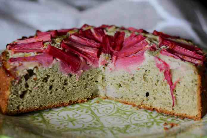 Green Tea Rhubarb Cake - 31