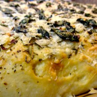 Baked Sunday Mornings: Cheesy Focaccia with Sautéed Spinach (Hold the Caramelized Onions!)