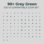 Ios 14 Aesthetic Grey Green Set Premium Icon Pack