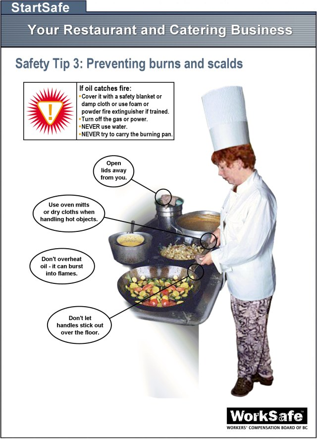 Culinary Arts 9101112 Preventing Burns  Scalds