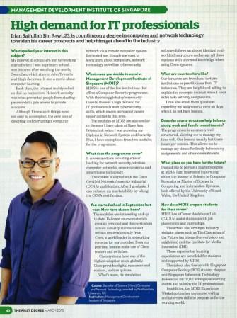High demand for IT professionals: Irfan Saifullah Bin Rawi