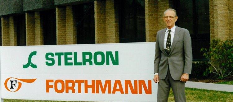 Founder Earl Beezer outside Stelron headquarters