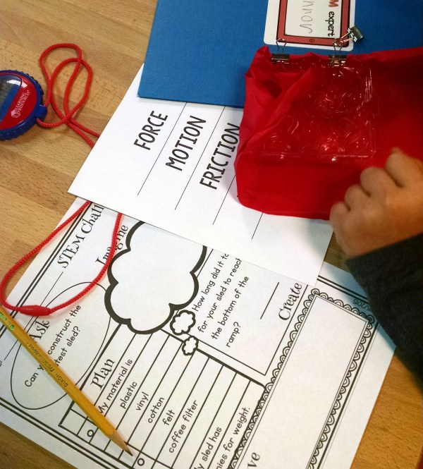 Stem Challenge - Fast & Slow Sled Activities Kids