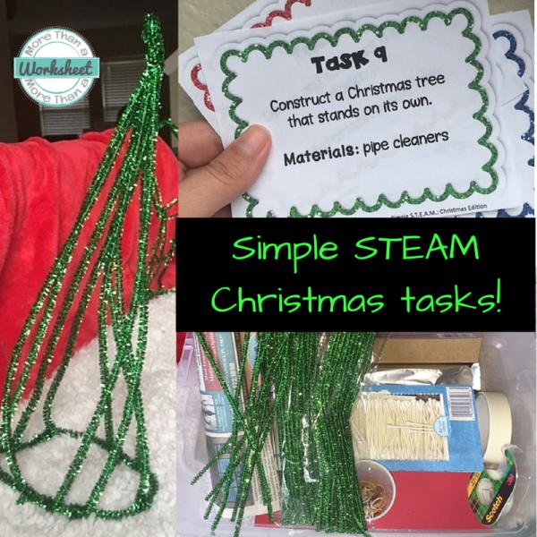 Simple Steam Christmas Tasks - Stem Activities Kids