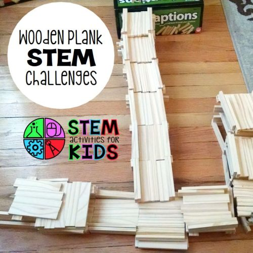wooden plank STEM challenges