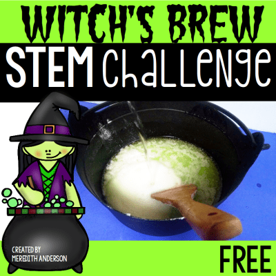 Witch's Brew Halloween STEM Challenge - Meredith Anderson for STEM Activities for Kids