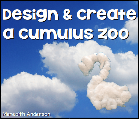 Design and create a cumulus cloud animal! All you need are pipe cleaners and cotton balls. | STEM Activities for Kids