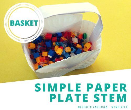 Simple Paper Plate STEM Basket Challenge