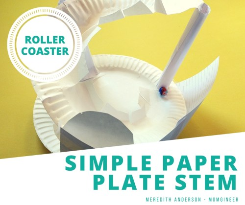 Simple Paper Plate STEM -Design a roller coaster! STEM Activities for Kids