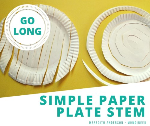 Simple Paper Plate STEM - Make the longest length you can with just one paper plate! STEM Activities for Kids
