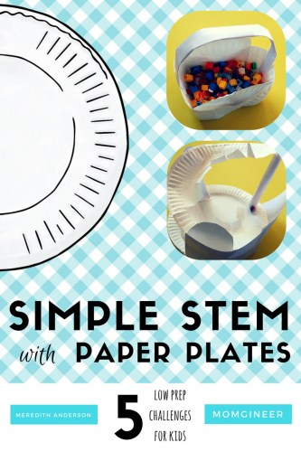 Simple paper plate STEM activities. Low prep and high engagement! Meredith Anderson on STEM Activities for Kids