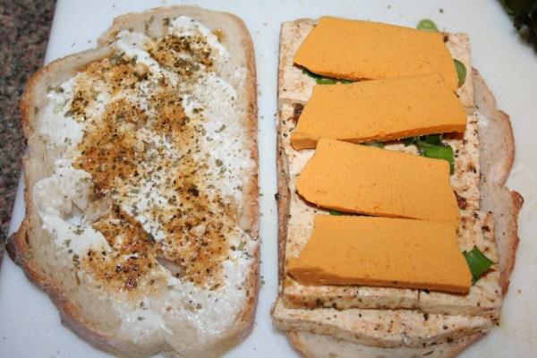 add vegan cheese
