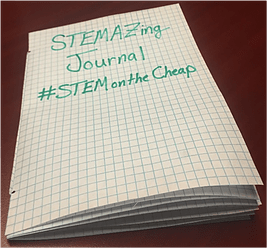 photo of a journal made with the STEMAZing hack