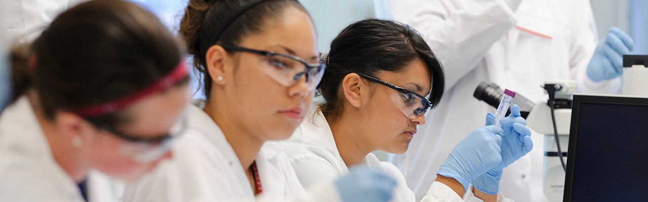 3 female students at UW-Madison Summer Science Camp