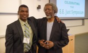 Stephon Alexander and Jim Gates https://stemdrum.wordpress.com/2014/02/13/triple-play-physics-biology-music/