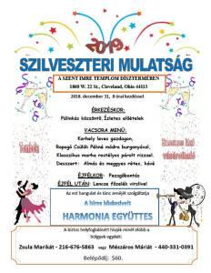 SZILVESZTERI MULATSÁG - 2018. DECEMBER 31.
