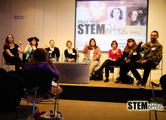 Our entire panel (l-r): Chris O'Dell, Francesca Stokes, Lydia Monnington, Dawn Hewitson, Jennifer Scott, Giulia Thompson, Piers Thompson