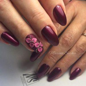 Manichiura burgundy 25 modele cu un design inedit