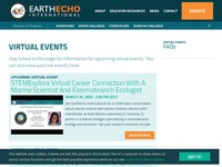 EarthEcho Virtual Events