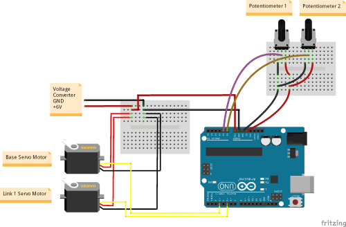 small resolution of caution power servos using a 6v 2a power adapter for smooth functioning of servo motor