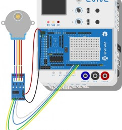 connect 28 byj48 stepper motor 5 wire female bus with uln2003 stepper motor driver male bus as shown in figure  [ 1612 x 2000 Pixel ]
