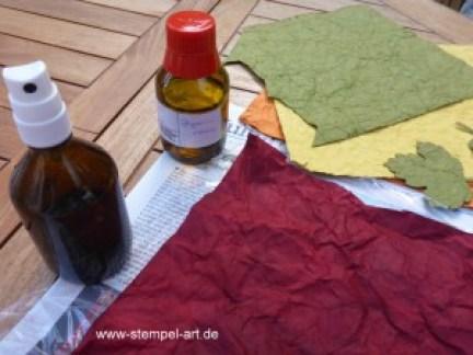 Faux Leather Technique nach StempelART, Vintage Leaves (3)
