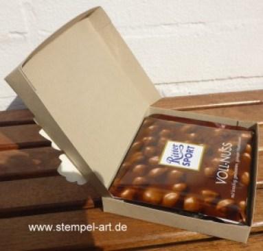 Herbstliche Schokoladenverpackung nach StempelART - quadratisch, praktisch, gut; Vintage Leaves (4)