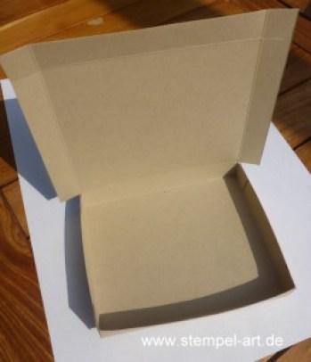 Herbstliche Schokoladenverpackung nach StempelART - quadratisch, praktisch, gut; Vintage Leaves (7)