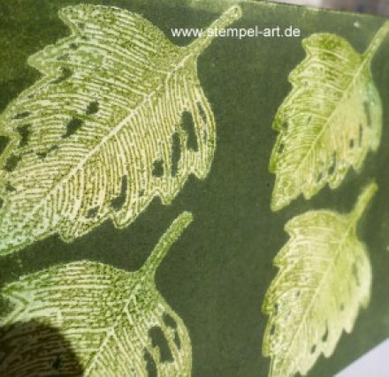Josephs Coat Technique nach StempelART, Vintage Leaves (6)