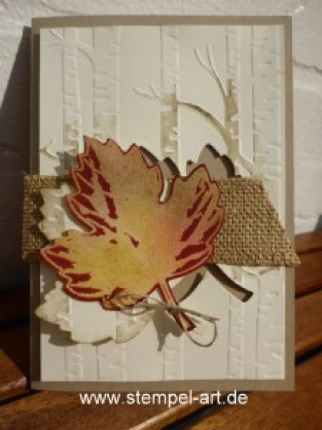 Josephs Coat Technique nach StempelART, Vintage Leaves (9)