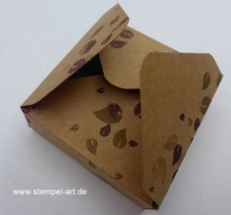 Hanuta Verpackung nach StempelART, Tutorial, bebilderte Anleitung
